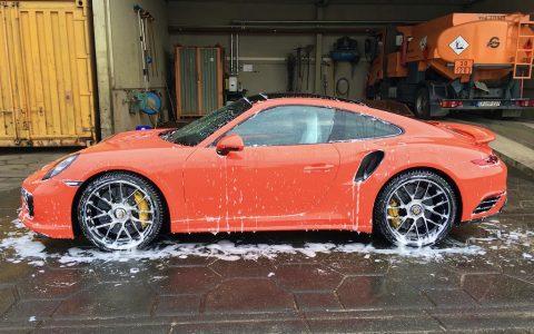 Handwäsche Porsche TurboS3